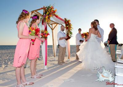 Dreamy beach wedding ceremony