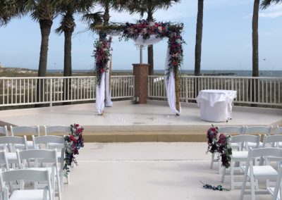 Big Arbor decorated with fresh floral arrangements