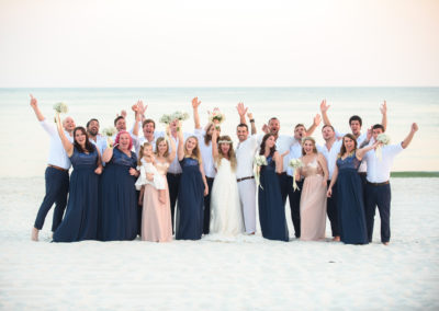 Happy Wedding Party on a Beach Wedding