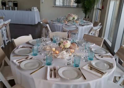 Table setting at a reception